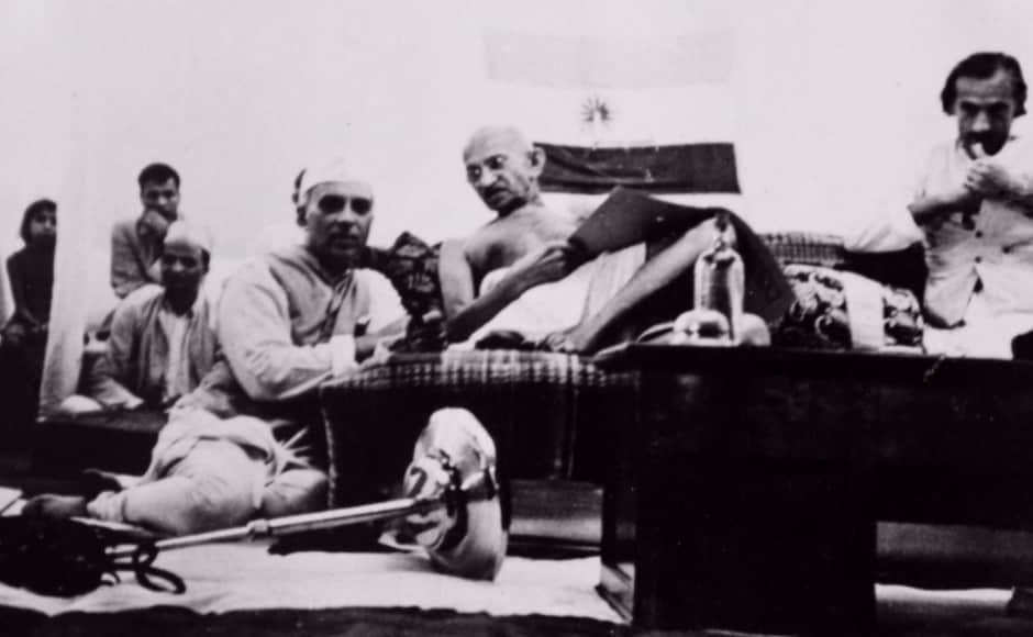 The National Gandhi Museum and India International Centre are presenting this exhibition from 11 to 21 August to mark 70 years of India's Independence. Gandhi is seen with Nehru at the AICC session in (then) Bombay