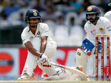 Wriddhiman Saha was batting on 13 at close of play on Day 1 of the third Test against Sri Lanka. Reuters