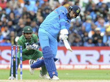 Yuvraj Singh in action against Pakistan in the Champions League. AP