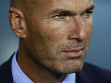 File image of Real Madrid manager Zinedine Zidane. AP
