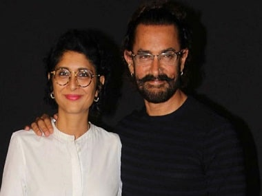 Aamir khan and wife Kiran Rao. Image from Twitter.