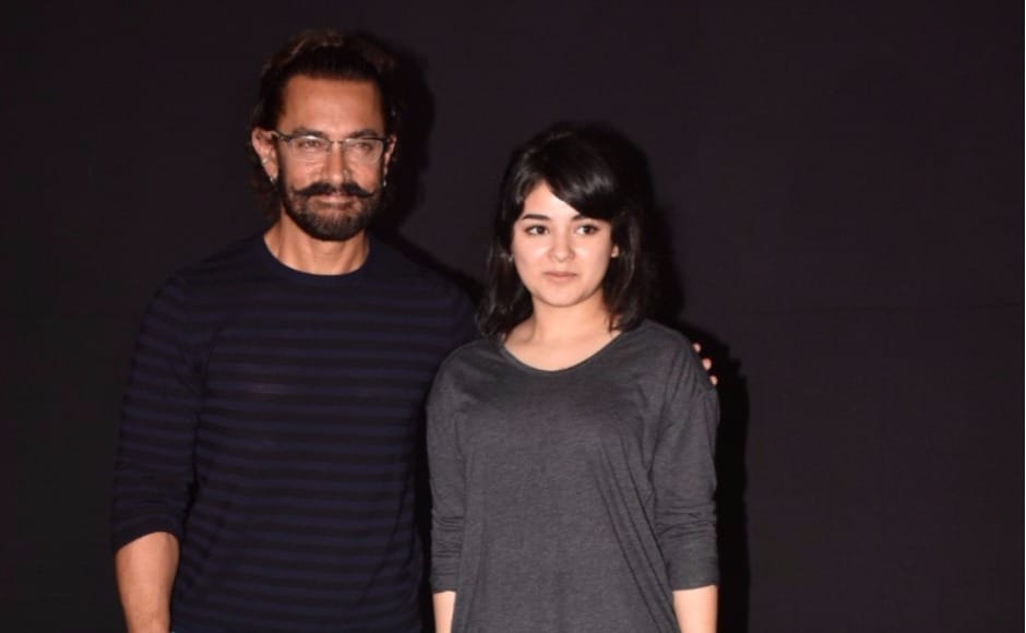 Aamir Khan and his Dangal daughter Zaira Wasim
