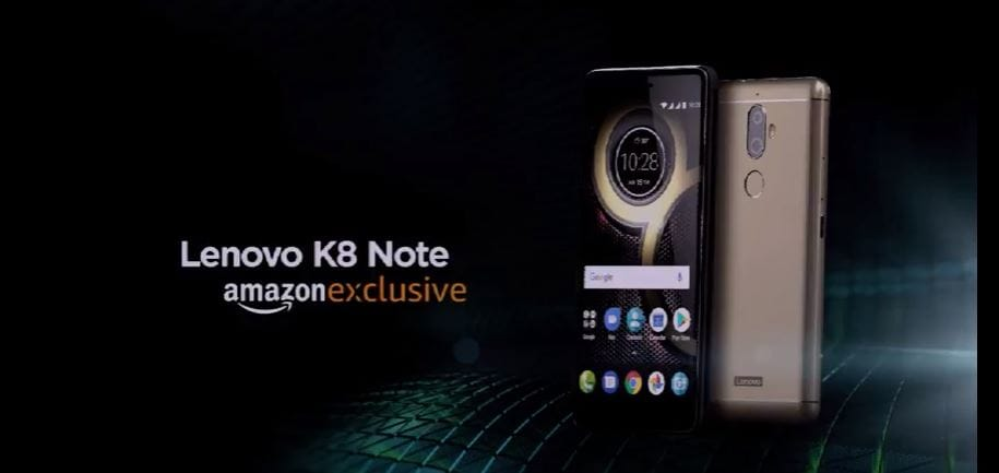 The K8 Note will be exclusive to Amazon