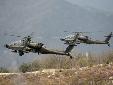 File image of US Army's AH-64 Apache helicopters. Reuters