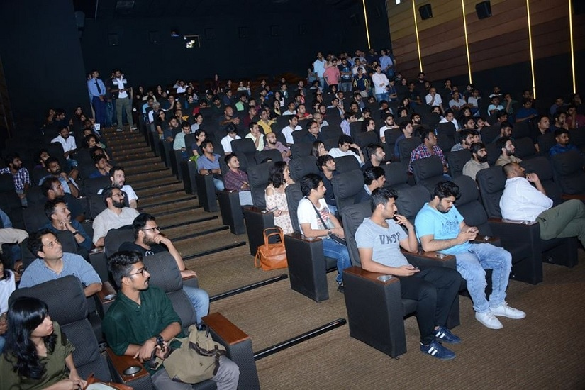 The audience at a screening by 1018 mb. Image from Facebook.