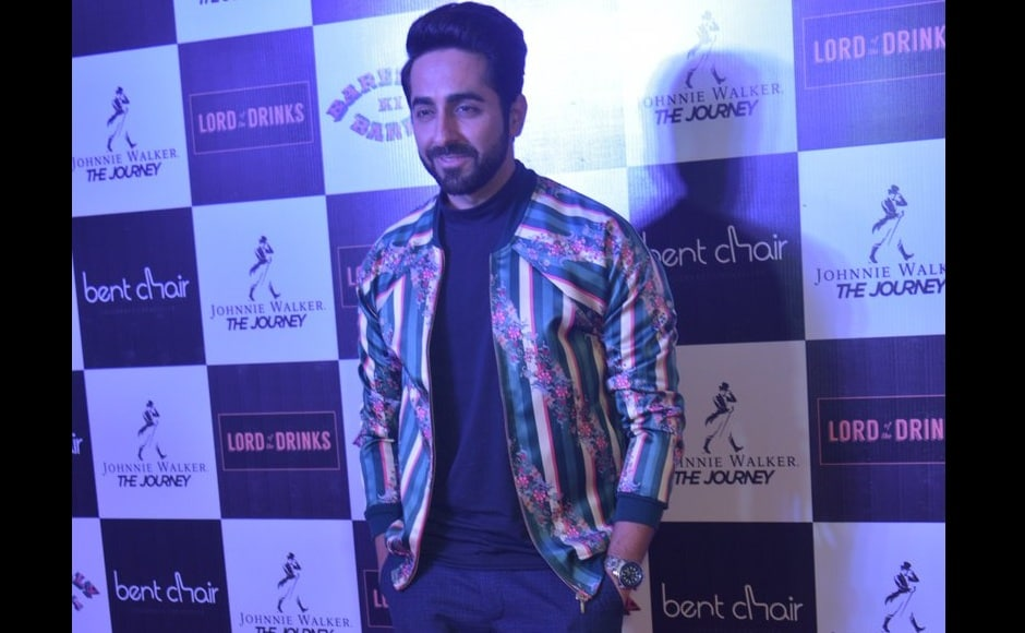 Ayushmann Khurrana put his best foot forward at the song launch event, too. Image from Twitter.
