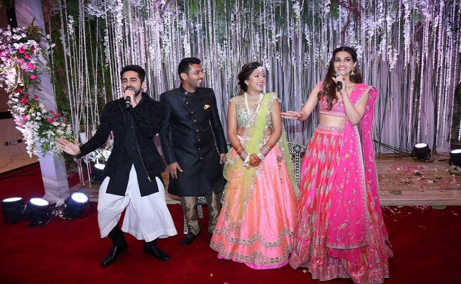 Bareilly Ki Barfi actors Ayushmann Khurrana and Kriti Sanon were up for mischief and decided to gatecrash an engagement ceremony.
