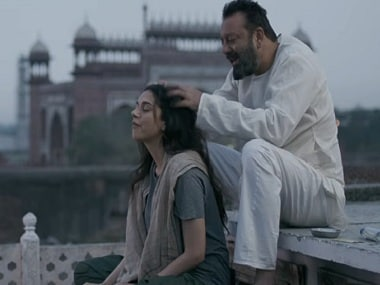 Aditi Rao Hydari and Sanjay Dutt in a still from Bhoomi. Screen grab via YouTube/ T-Series