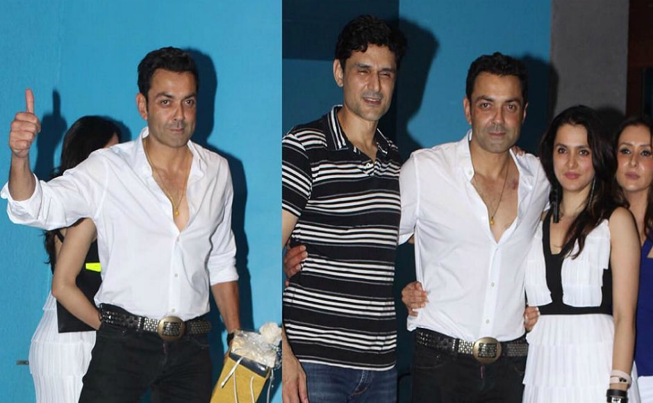 Bobby Deol marked his presence in the party along with his wife Tanya Deol.
