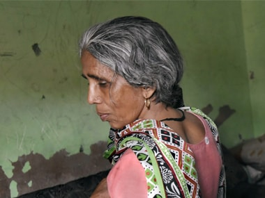 File image of a woman whose braid was chopped under mysterious circumstances. PTI