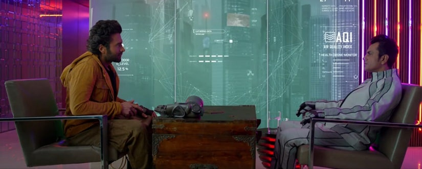 Jackky Bhagnani and Nawazuddin Siddiqui in a still from Carbon. YouTube
