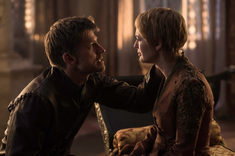 Jaime and Cersei. Rhaegar and Lyanna. Still from Game of Thrones. Image via HBO