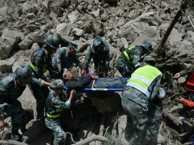File image of the resuce operations after the China earthquake on Tuesday. Reuters