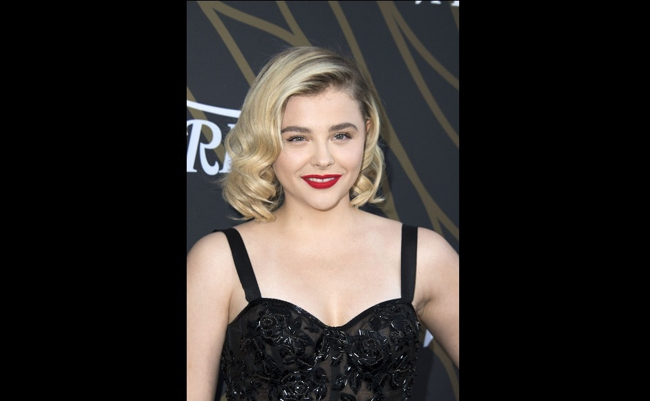 Chloë Grace Moretz was also one of the stars to be honoured at the event. Image from AFP.