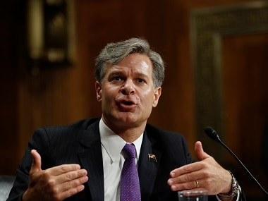 File image of Christopher Wray. AP