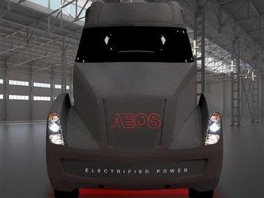 Cummins electric motor semi truck.