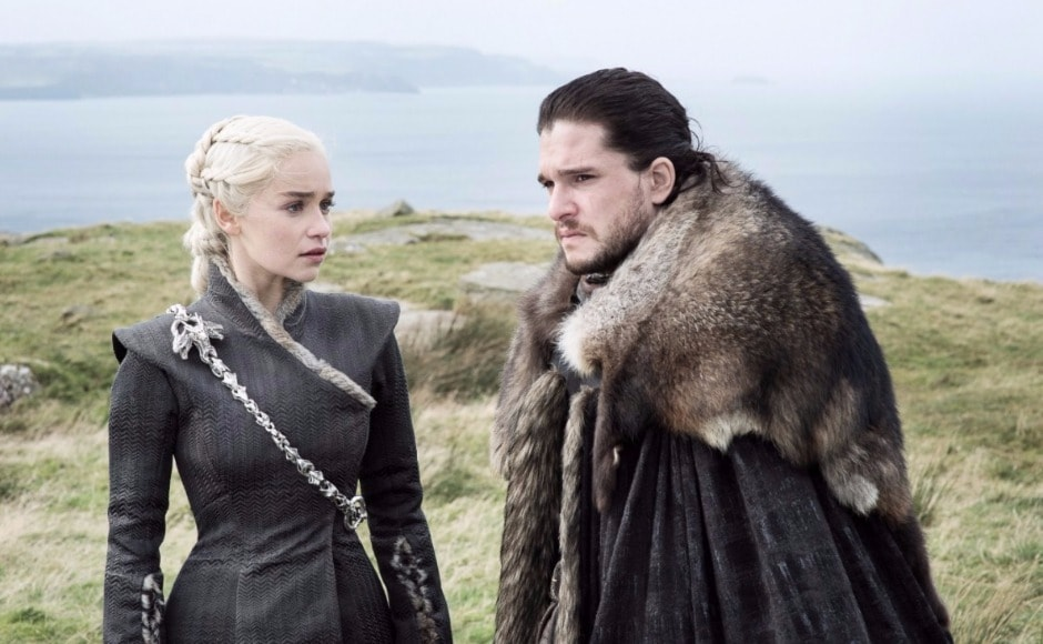 HBO has released eight new stills from the upcoming Game of Thrones season 7 episode 5, titled 'Eastwatch'. The previous episode — Spoils of War — saw Daenerys achieve her first victory against the Lannisters, although Drogon sustained a spear wound. Here. Dany and Jon seem to be conferring over that other battle she's promised to help him with — the one against the Night King and his army of White Walkers. Image via HBO
