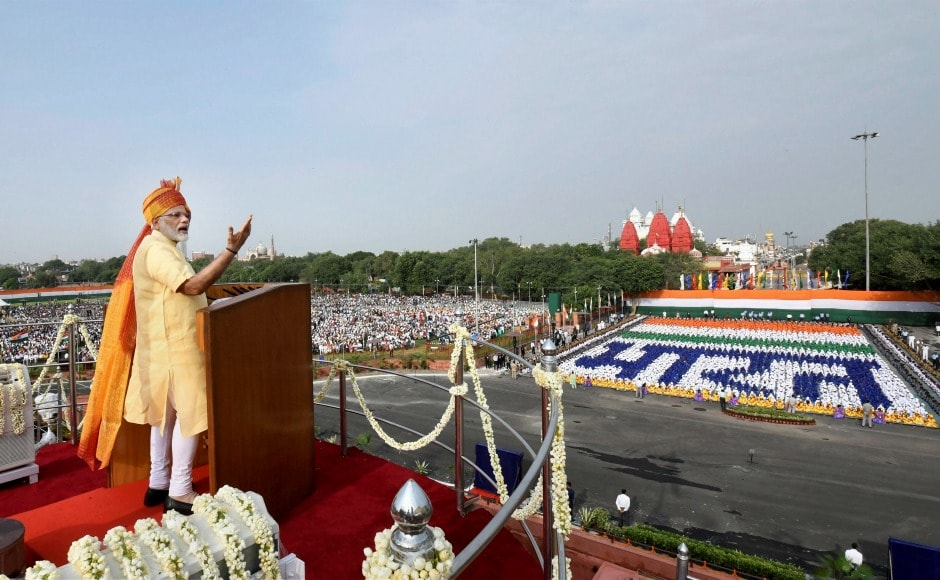 In his Independence Day speech, Modi called for a nation free of casteism, communalism, terrorism and corruption. PTI