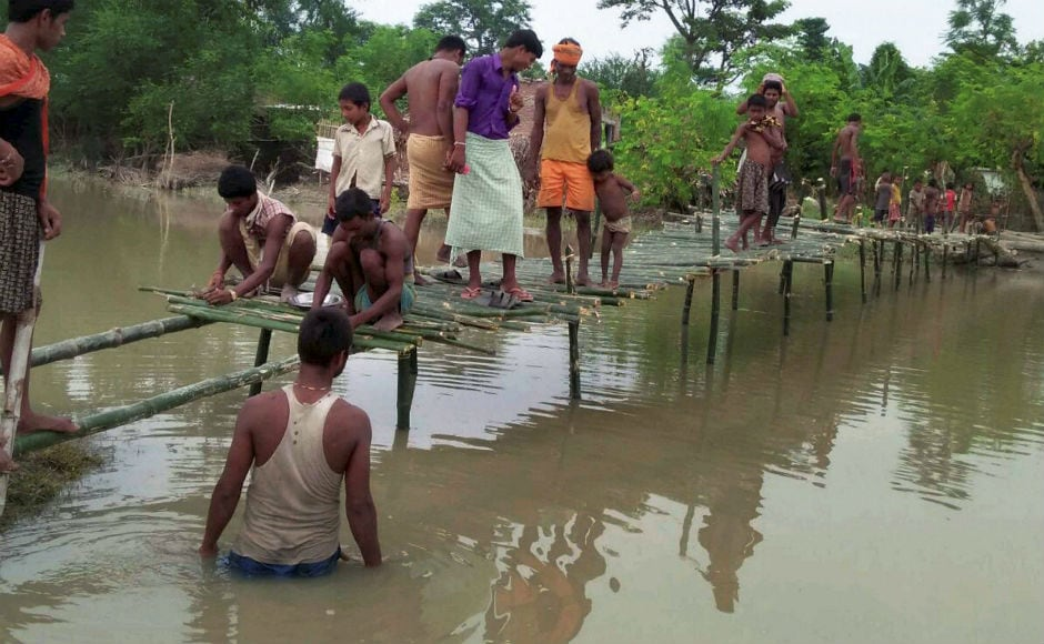 Residents in Bihar are struggling to recover from the devastation caused by floods and landslides that have killed 341 people, destroyed crops and swept away houses and roads. PTI