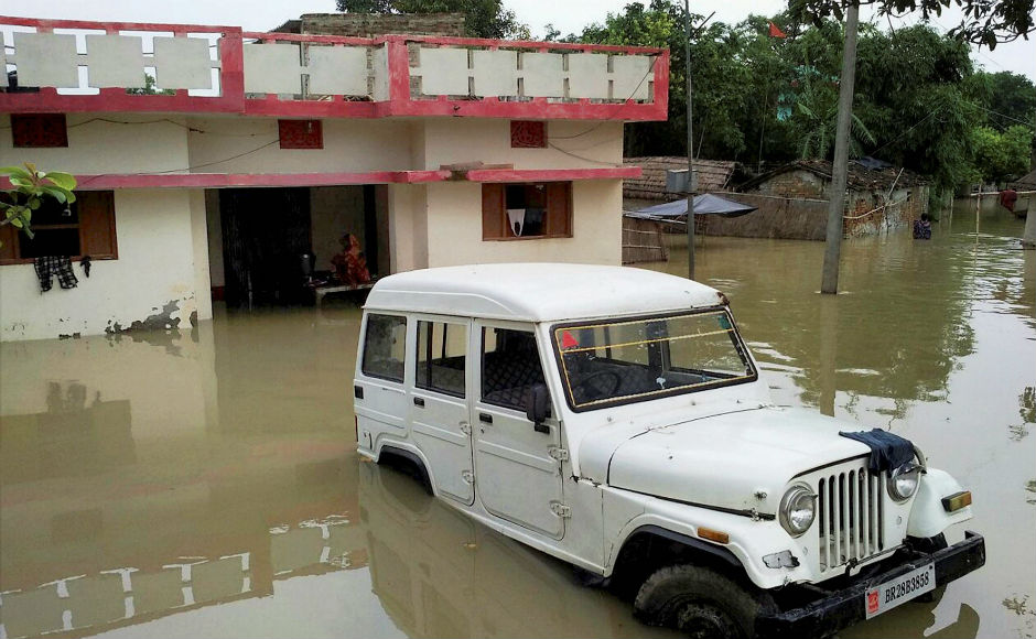In Bihar, the death toll mounted to 72 affecting over 73 lakh people across 14 districts. Chief Minister Nitish Kumar conducted an aerial survey of flood-hit areas. PTI