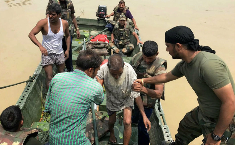 Indian Army has been called in to assist the civil administration in rescue and relief operations in Assam. The authorities are running 304 relief camps where 1,38,648 people had taken shelter. PTI