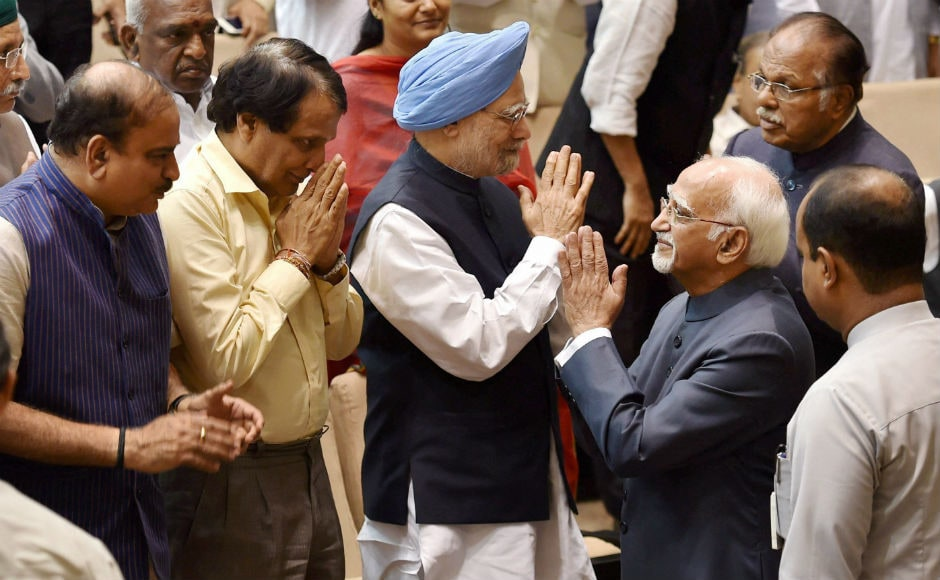Former prime minister Manmohan Singh also hailed his contribution in the House and said the country keeps on progressing despite challenges largely because of people like him. PTI