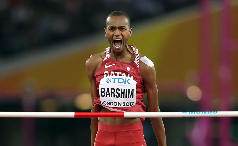 With a winning leap of 2.35 metres, Qatar's Mutaz Essa Barshim completed a faultless run in the Championships with his maiden world title. The Olympic silver and bronze medallist holds the record for the second-highest jump of 2.43 metres. AP