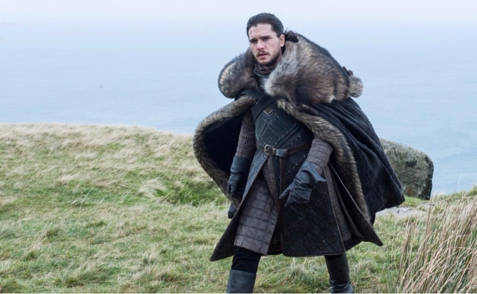 There's Jon, looking none too happy. Has he received Bran's message about seeing White Walkers heading to Eastwatch? And will Tormund be able to hold off the horde until Jon gets there? Image via HBO