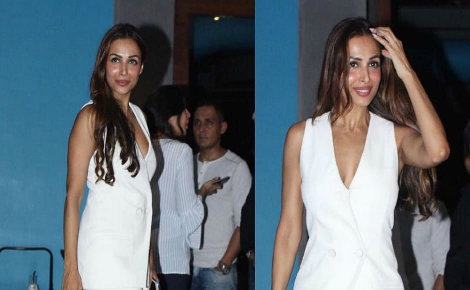 Malaika Arora also took part in the merrymaking of her ex-husband's birthday bash.