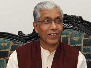 File image of Tripura chief minister Manik Sarkar. PIB