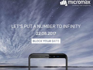 Micromax Canvas Infinity series with 18:9 ratio display could be unveiled on 22 August