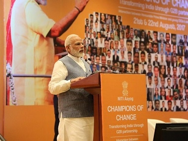 Narendra Modi at the event. Image courtesy: Twitter @BJP4India