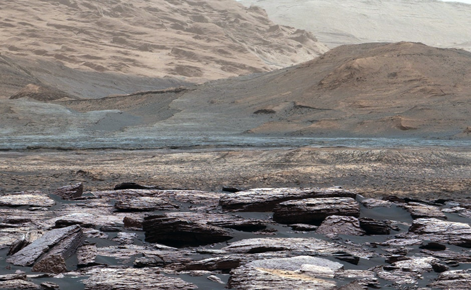 Another view of Mount Sharp. Image: NASA.