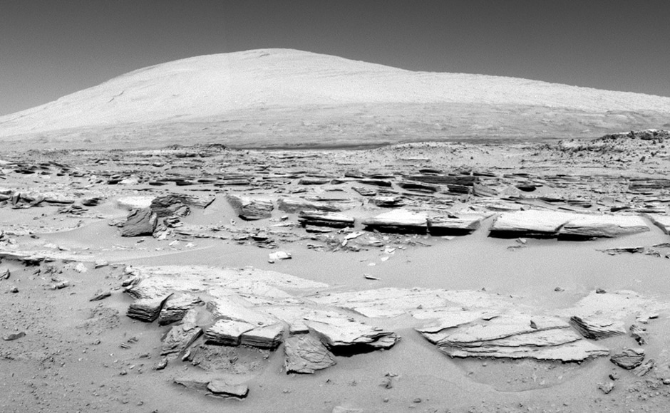 Mount sharp. Image: NASA.