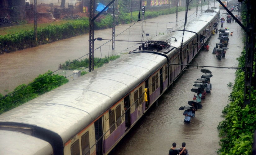 Trains were running late or stopped on Central, North and Harbour railway lines, as tracks were submerged at several places. PTI
