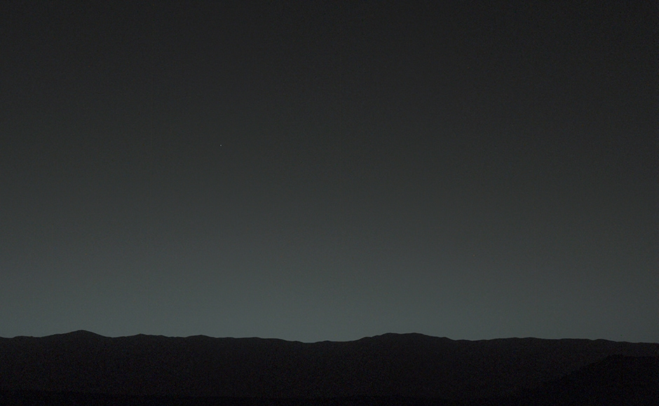 The Earth is the evening star in the skies of Mars. Image: NASA.