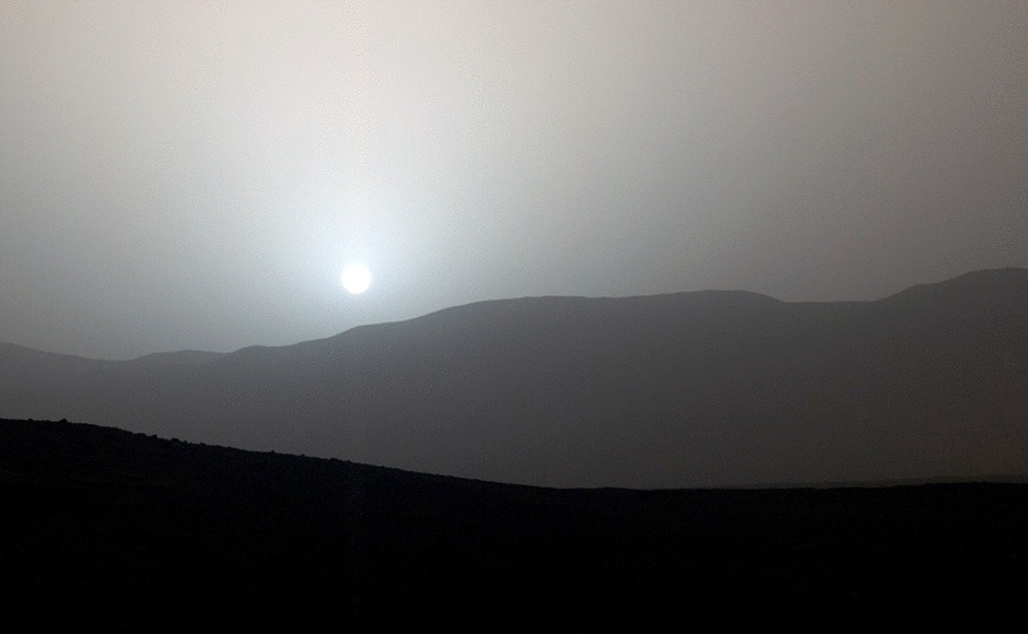 A Martian sunset. Image: NASA.