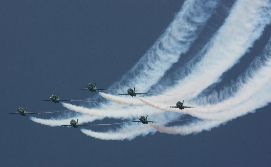The largest air show till date, it showcased aerobatic teams from Turkey and Saudi Arabia as well. AP