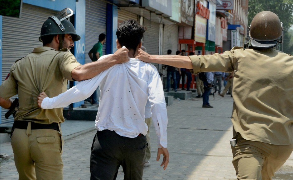 The police also arrested students and announced a complete shutdown in the Valley. PTI