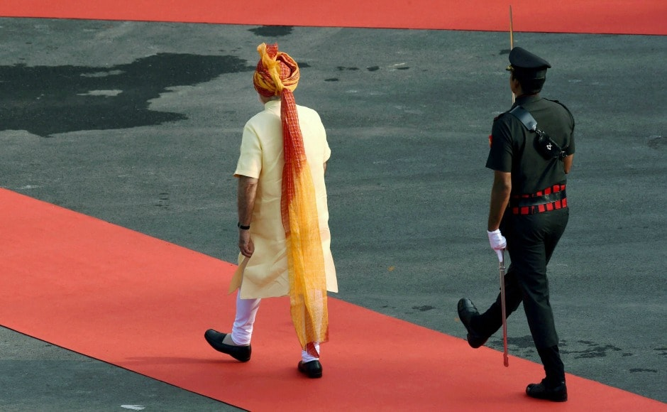 On arrival, Modi received a guard of honour before he unfurled the national flag. PTI