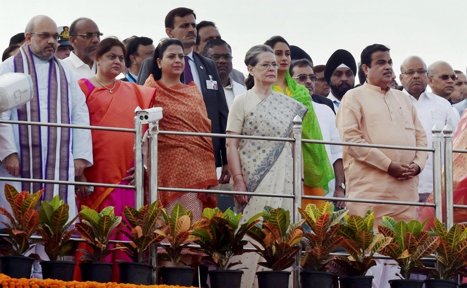 Amit Shah, Sonia Gandhi, Nitin Gadkari and other prominent politicians also attended the event. PTI