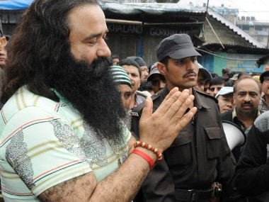 File image of Gurmeet Ram Rahim Singh. Wikimedia Commons