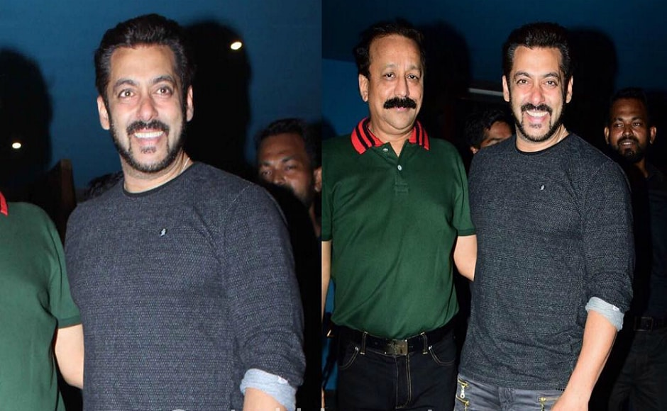 Salman Khan with Baba Siddiqui at the party