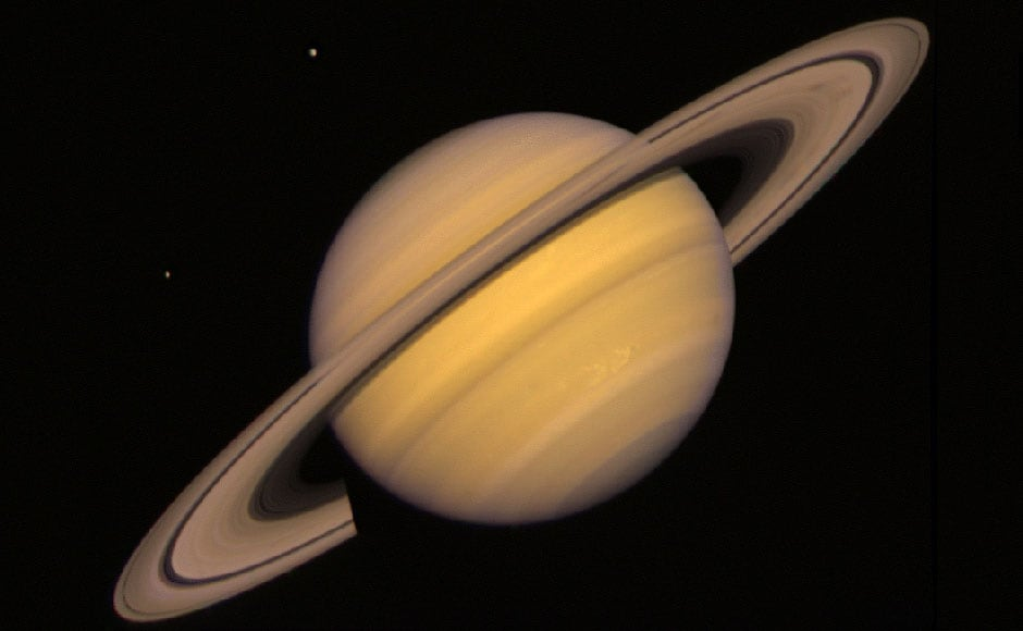 Saturn with some of its moons. Image: NASA.