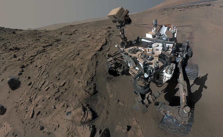 This is a selfie that curiosity clicked at the Windjana pitstop. Image: NASA.