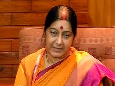 File image of Sushma Swaraj. Courtesy: CNN-News18
