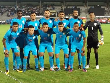 The victorious Indian football team Twitter @IndianFootball