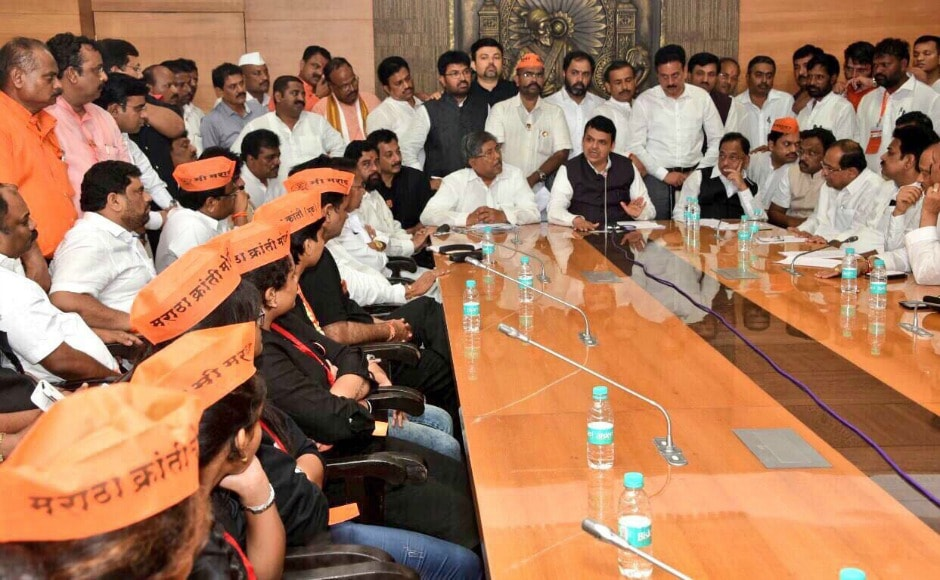 After a meeting with the community leaders, Maharashtra chief minister Devendra Fadnavis accepted the main demands. He announced that 605 education courses will be open for Maratha students while a sub-committee will be formed to look into the reservation process. Sanjay Sawant/Firstpost