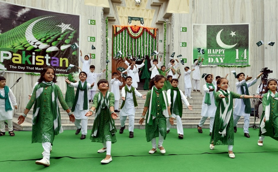 After the cake cutting ceremony, there were performances by school children at the Pakistan High Commission in New Delhi. PTI