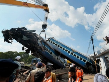 File image of Utkal Express train accident. PTI